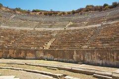 Platser av den Odeon teatern i Ephesus. Turkiet Fotografering för Bildbyråer