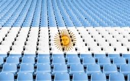 Platser för Argentina flaggastadion, Argentina flagga vektor illustrationer