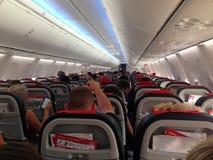Platser för kabin för flygplanflygplannivå Royaltyfri Foto