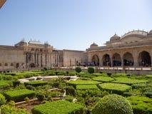 Platser från Amber Fort, i Agra, Indien arkivfoton