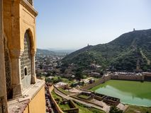 Platser från Amber Fort, i Agra, Indien arkivfoto
