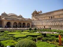 Platser från Amber Fort, i Agra, Indien royaltyfri foto