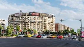 Platser från centret av Bucharest Fotografering för Bildbyråer