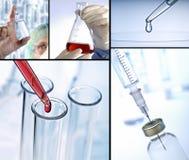 Platser från forskning och medicin Arkivbilder