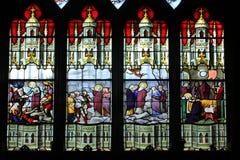 Platser från livet av St Genevieve royaltyfri bild