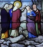 Platser från livet av St Genevieve royaltyfria foton
