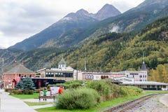 Platser och landskapsikter i Skagway Alaska royaltyfri foto