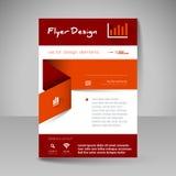 Platsorientering för design - reklamblad Arkivfoto