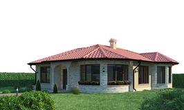 Platsyttersida för hus 3d royaltyfri foto