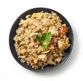 Platta av asiatisk mat royaltyfri bild