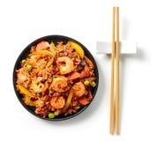 Platta av asiatisk mat arkivbilder