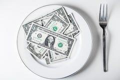 Platta av dollar Royaltyfri Bild