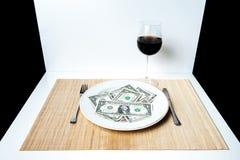 Platta av dollar Arkivbilder