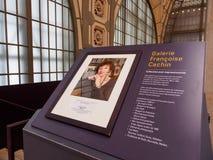 Platta av Francoise Cachin p? Musee D ?Orsay, Paris, Frankrike arkivfoton