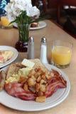Platta av frukosten arkivbild
