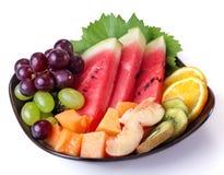 Platta av frukt arkivfoto