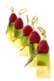 Platta av fruktefterrätten Royaltyfria Bilder