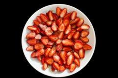 Platta av jordgubbar II royaltyfri fotografi