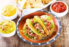 Platta av taco arkivfoton