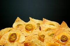 platta för 2 nachos Royaltyfri Fotografi