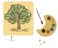 platta för borstefärgillustration vektor illustrationer