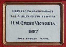 Platta för drottning Victoria Jubilee royaltyfri foto