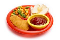 Platta för lunch för barn` s royaltyfri bild