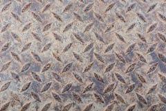 Platta för metallrostdiamant Royaltyfri Foto