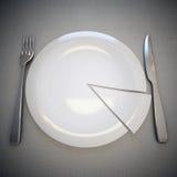 Platta, gaffel och kniv Arkivfoton