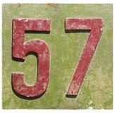 Platta med ett nummer 57 Arkivfoton