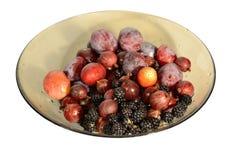 Platta med frukter och bär Arkivbilder