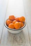Platta med tangerin Royaltyfria Bilder