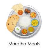 Platta mycket av läckert Maratha mål vektor illustrationer