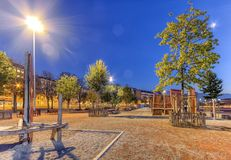 Platta till av Plainpalais, Genève, Schweiz, HDR Arkivbild