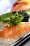 platta tjänade som sushi Royaltyfria Foton