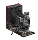 Platta-vikning kamera, 1930 Arkivfoton