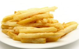 Platte der Chips Stockfoto