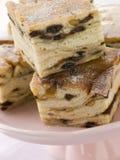 Platte der Lardy Kuchen-Quadrate Stockfotografie