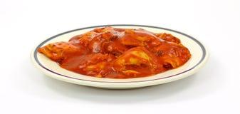 Platte der Rindfleisch-Ravioli Lizenzfreies Stockbild