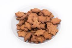 Platte der selbst gemachten Kekse Stockfotografie