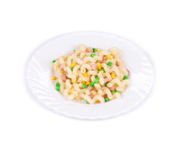 Platte der Spaghettinahaufnahme Lizenzfreie Stockbilder