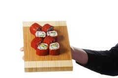 Platte der Sushi Stockfoto