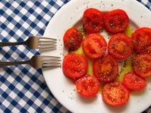 Platte der Tomate Lizenzfreies Stockfoto
