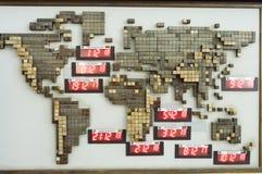 Platte der Welt mit der Zeit Stockfotografie