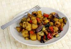 Platte des Gemüses vom Mittelmeer Lizenzfreies Stockfoto