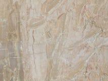Platte des gestreiften beige Marmors Stockfotografie
