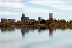 Platte-Fluss-Stadt Lizenzfreie Stockbilder
