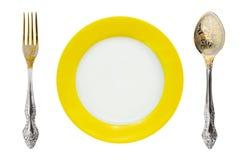 Platte, Gabel und Löffel stockbilder