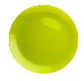 Platte lokalisiert auf einem weißen Hintergrund Draufsicht der Platte Grüner Winkel des Leistungshebels Lizenzfreies Stockfoto