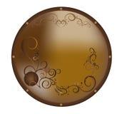 Platte mit einem Muster Stockbild